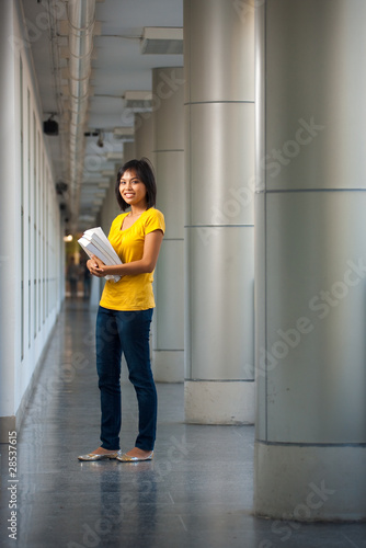 College Student Full Length Portrait Happy