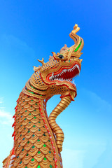 King of Naga in Temple of Thailand