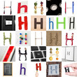 Collage of Letter H