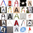 Collage of Letter A