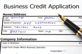 Business credit application with fictional data poster