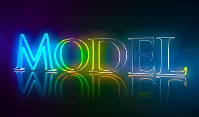 3D Typografie Model