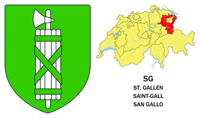Cantoni della Svizzera: San Gallo (St. Gallen, Saint-Gall)
