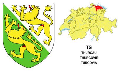 Cantoni della Svizzera: Turgovia (Thurgau, Thurgovie)