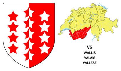 Cantoni della Svizzera: Vallese (Valais, Wallis)
