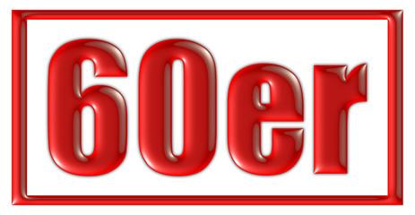 Stempel rot 60er