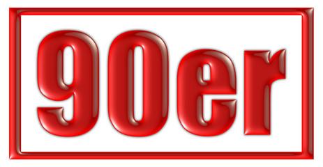 Stempel rot 90er