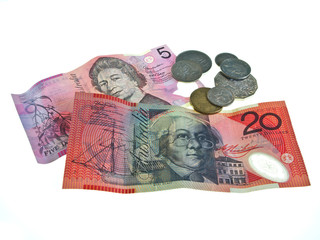 Australian bank notes and coins