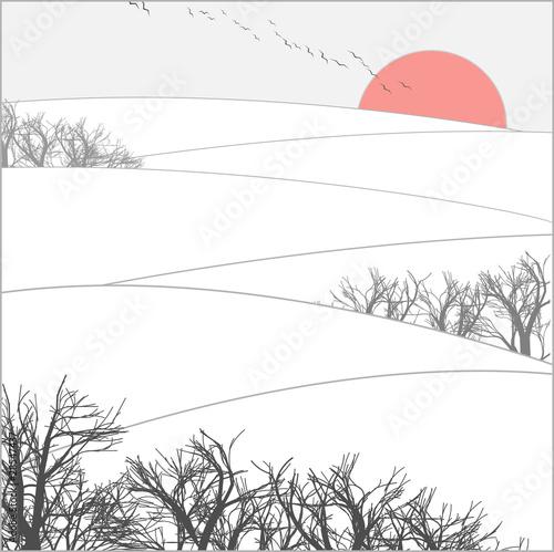 winter sunset - 28547437