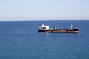 Oil tanker - Mediterranean sea. South coast of Crete