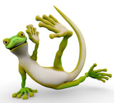 gecko cartoon freestyle dance