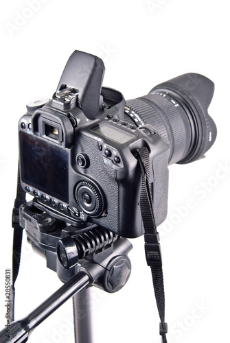 Professional Level DSLR Camera on Tripod