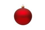 Dekoracja świąteczna – czerwona bombka