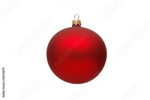 Dekoracja świąteczna – czerwona bombka - 28551679