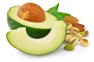 Avocado with nuts