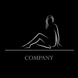 Logo profile of nude woman # Vector