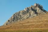 Coltesti fortress on a rocky height, Transylvania, Romania poster