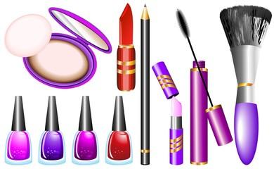 Trucco Moda e Costmetici-Fashion Make Up-Vector