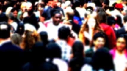 Crowd Walking Slow Motion