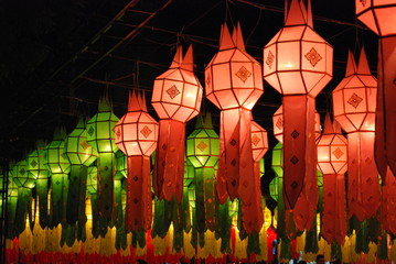 Amazing Lamps of Loi Krathong Festival in Chiang Mai Thailand