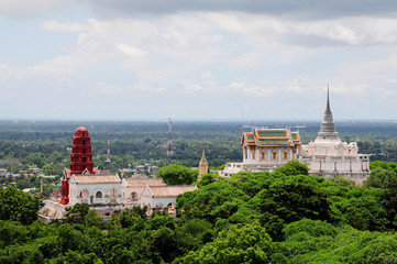 Thai Pagoda on Hill