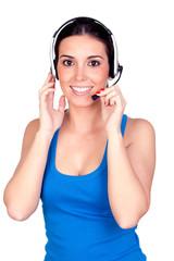 Attractive teleoperator with headphones