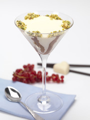 pannacotta served in a glass