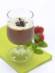 mousse in a glass