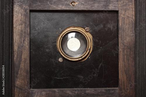 vintage photocamera wooden Poster