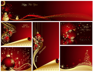 Merry Christmas and Happy New Year. Vector illustration.