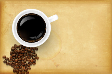 Coffee design with place for your text