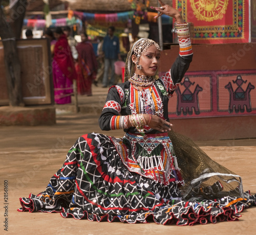 Rajasthani Dancer in Action
