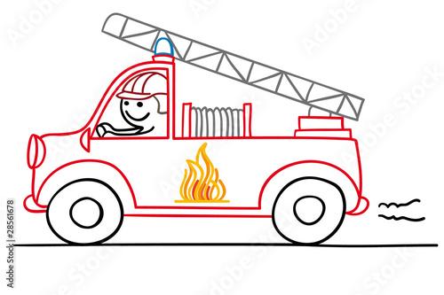 Gamesageddon Figur Im Feuerwehrauto Lizenzfreie Fotos Vektoren