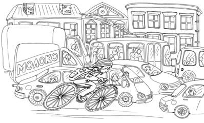 Дитя на велосипеде