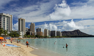 Strand von Waikiki (Honolulu, Hawaii)