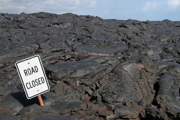 Road Closed - Lavafeld bei Kalapana (Big Island, Hawaii)