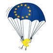 figur euro am fallschirm