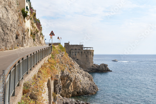 Italy, Amalfi Coast. Road along the shore
