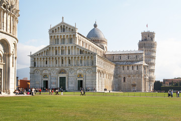 Italy, Pisa. The Cathedral and the Leaning Tower