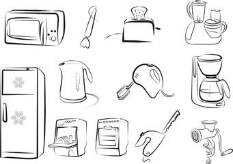 kitchen electric goods set