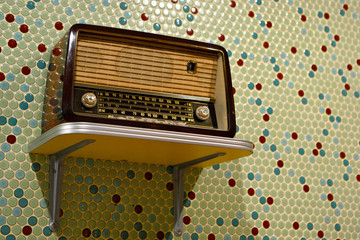 grungy retro radio
