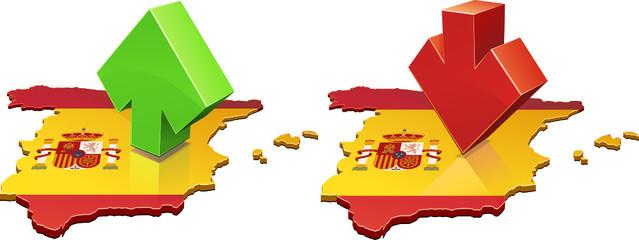 España hacia arriba o hacia abajo