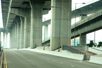 Empty freeway