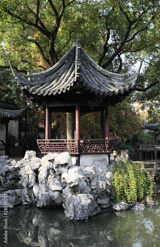 Pavilion in the Yuyuan Garden in Shanghai, China