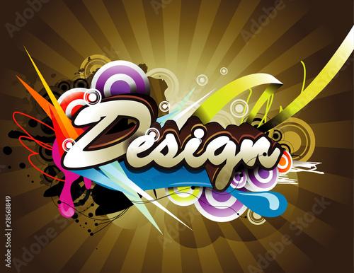 design text vector illustration