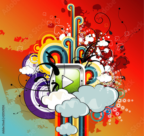 abstract play vector illustration