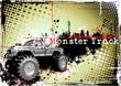 monster truck horizontal poster