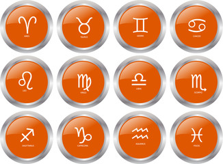 zodiac button collection - vector