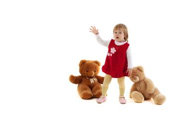 Girl with bears