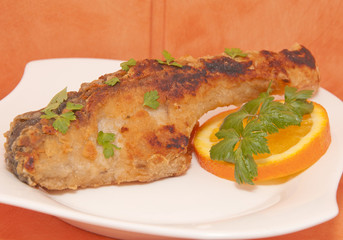 Fish with parsley and orange
